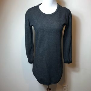 TopShop gray extended long sleeve top size 4